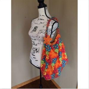 Boho Hippie Large Shoulder Bag Colorful  Cotton